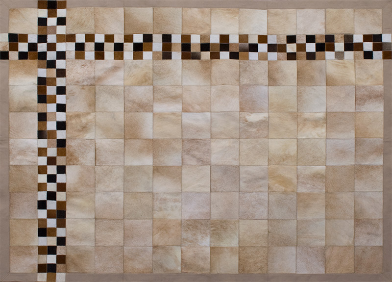 Natural Tile Leather Rugs